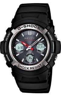 Casio G-Shock AWGM100-1A Atomic Analog Digital Multifunction Black Rubber Mens Watch
