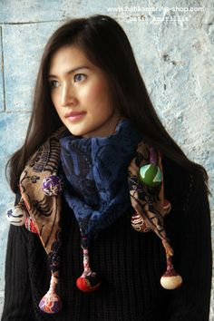 batik amarillis's BLT shawl Available at batik amarillis webstore : www.batikamarillis-shop.com unique reversible triangle shawl it's a true art of patchworking ♥ made of various Indonesia's traditional textiles such as  batik, ikat & tenun batik gedog, this scrumptious shawl is your best accessories for all year round!