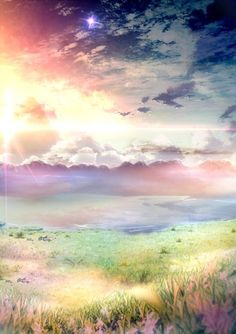 Pastel watercolor field and sky. Art Watercolor, Watercolor Landscape, Pastel Landscape, Landscape Art, Wow Art, Pretty Pictures, Nice Photos, Funny Pictures, Painting & Drawing