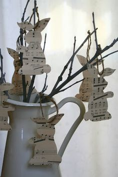 SHEET MUSIC PAPER BUNNIES