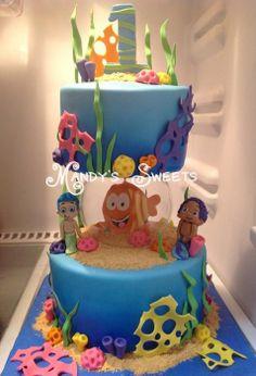 Bubble Guppies Cake I want for Avyanna's 1st birthday :)
