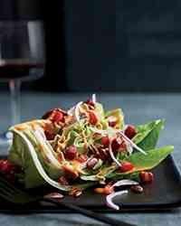 Kosher Recipe: Salad with Tomato Vinaigrette and Diced Pastrami | Gourmet Kosher Cooking