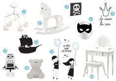 10 idées déco en noir et blanc pour les chambres d'enfant