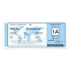World Map Birthday Boarding Pass Ticket Card Boarding Pass Invitation, Ticket Invitation, Invitation Paper, Custom Invitations, Invitation Design, Invites, Ticket Card, Party World, Kids Birthday Party Invitations
