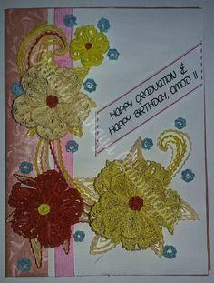 Pink - Yellow Graduation + Birthday Card by oktaviarahayu
