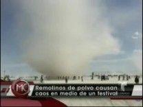 """Se Forma Un Enorme Remolino En Medio De Festival De """"Burning Man"""" En Medio Del Desierto #Video"""