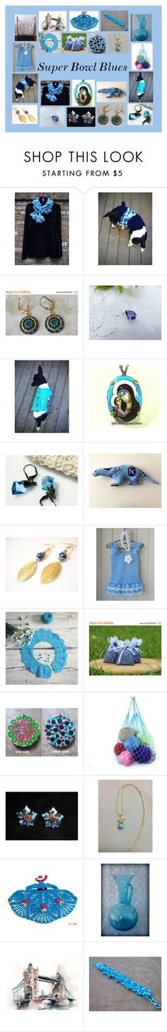 """Super Bowl Blues: Original Etsy Gifts"" by paulinemcewen ❤ liked on Polyvore featuring Corgi"