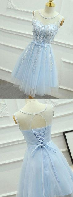 Charming Prom Dress,Short Prom Dress,Tulle Homecoming Dress,Lace Prom