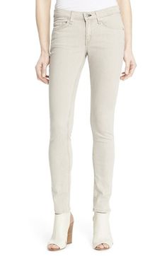 rag & bone/JEAN Skinny Jeans (Beige) available at #Nordstrom