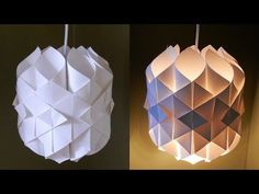 DIY Origami Lampe - YouTube