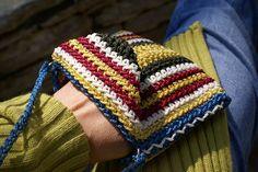 Striped Bag Small Crochet Bag Cross Body Bag Crochet purse Boho Cross Body Bag Handbag Wallet Bag Cell Phone Bag 4 Way Convertible Bag. by Hishuk on Etsy