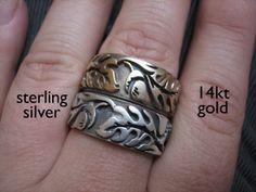Extra Wide Oak Rings | sudlow jewelry