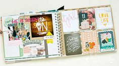 inside april memory planner pages