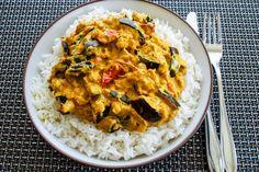 Auberginen-Curry mit Joghurtsauce 1