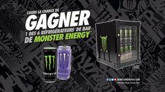 Cours toi aussi la chance de gagner 1 des 6 réfrigérateurs de bar de Monster Energy!  bonne chance