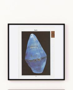 Vintage raw sapphire mineral poster from Vintage geology Gift Guide For Men, Rock Decor, Mineralogy, This Is A Book, Blue Dream, Botanical Art, Scientists, Vintage Prints, Geology