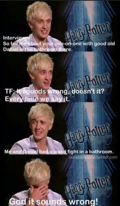 Harry Potter interview with Tom Felton, actor of Draco Malfoy Harry Potter Interviews, Tom Felton Harry Potter, Harry Potter Puns, Harry Potter Cast, Harry Potter Love, Harry Potter Fun Facts, Albus Severus Potter, Potter Facts, Drarry