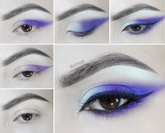 Deep Purple Smoke Makeup Tutorial for Brown Eyes