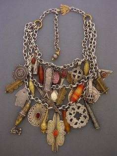 Statement necklace from found objects  Source: Dorje Designs