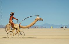 Only at the Burn!     Burning Man 2005 Mutated Camel art bicycle burningman 06 by Dust To Ashes, via Flickr