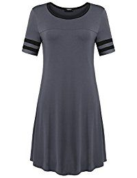 Zeagoo Women's Short Sleeve Casual Loose T-Shirt Dress -- Check out this great product.