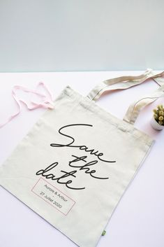 Tote bag save the date : Coton Bio, Save The Date, Marie, Reusable Tote Bags, Dating, Quirky Wedding, Quotes