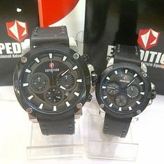 JAM TANGAN EXPEDITION COUPLE 6606 SILVER BLACK ORIGINAL