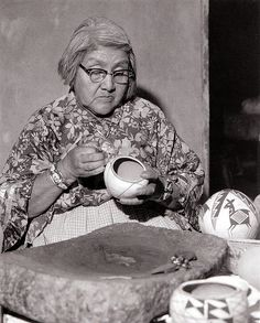 """Lee Marmon. 1961. """"Lucy Lewis. Acoma Potter"""""""