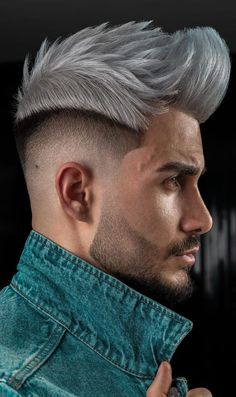 Spiky Fade Haircut 2020 for Men Trending Hairstyles For Men, Trendy Mens Haircuts, Cool Hairstyles For Men, Haircuts For Men, Men's Haircuts, Short Hair Cuts, Short Hair Styles, Taper Fade, Mens Hair Trends