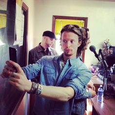 Oh Austin<3 Taking a selfie during a radio interview. It's part of Home Free's #takingpicturesoftakingpicturestuesday.