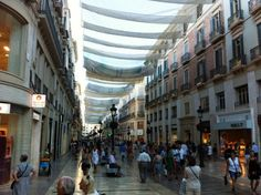 Calle Larios  Malaga    piccavey.com  Read more about shopping here http://www.piccavey.com/shopping-in-spain/