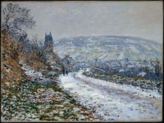 Claude Monet, Entrance to the Village of Vétheuil in Winter, 1879.