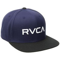 RVCA Boy s Rvca Twill Snapback Iii Hat Blue Grey One Size 4be5c3707ac