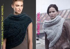 Katniss Hunger Games Maria Dora Cowl Scarf Vest Catching Fire Fashion: The Story Behind Katniss Cowl: Inspiration & links.
