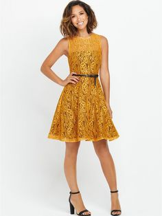 Myleene Klass Lace Dress by Littlewoods Fashion Editor, Yellow Dress, Lace Dress, Curves, Kids Fashion, Summer Dresses, Clothes For Women, Skirts, Shopping