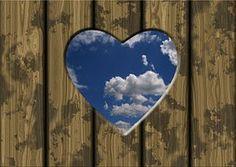 Boards, Door, Clouds, Heart, Love, Luck