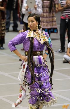 Kit wearing purple jingle dress, love her dancing!