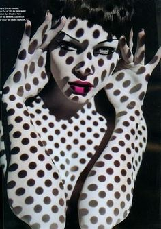 polka dot lady ~ a bit over board wouldn't you say?