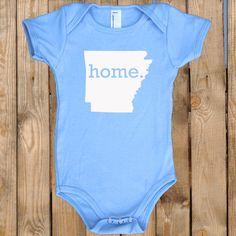Arkansas HOME State Unisex Baby Onesie - girls or boys. $17.95, via Etsy.