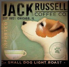 A cute dog and coffee... :)