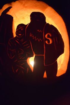 Mummy and Wolfman (Monster Squad Pumpkin)