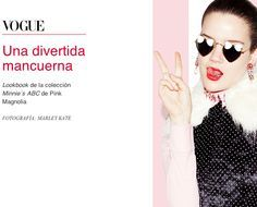 Ode to the Minnie Mouse Show here celebrated in Vogue Mexico just found, with MERCURA NYC ART painted pop art sunglasses featured with Pink Magnolia in Sept 2011 MBFWMX complete show on vogue/mx.com
