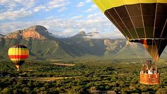 Hot air balloons over Kruger National Park, South Africa (perhaps a more interesting way to safari, and a lot of the lodges here are 5-star)