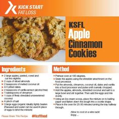 Our delicious collection of easy cookie recipes will satisfy anyone's sweet tooth. Cinnamon Cookies, Cinnamon Apples, Clean Eating Recipes, Healthy Eating, High Protein Low Carb, Easy Cookie Recipes, Sliced Almonds, Cookies Ingredients, Food Processor Recipes