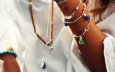 Long Silver tassel necklace