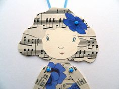 Paper Doll Jointed Paper Doll Articulated paper Doll Flower