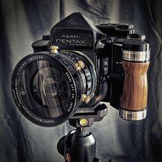 Stunning Pentax 67 Medium Format SLR analogue Camera with Asahi lens.
