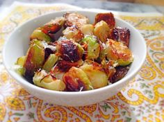 Roasted Brussels Sprouts with Parmesan, Lemon and Red Pepper Flakes! Easy and delicious side! By Lazy Girl Dinners #paleo #whole30 #glutenfree