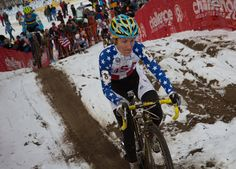 Amy Dombroski, here seen at the 2013 Worlds CX in Liousville, died on October 3rd, 2013 after being hit by a truck while out training in Belgium