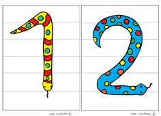Les chiffres un et deux du puzzle mathématique